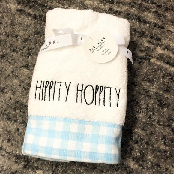 NEW Rae Dunn Easter Towel Set of 2